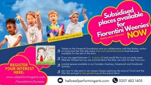 Coral and the Glis Glis-POSTER-Bursary-and-Subsidised-Places-for-Fiorentini-Weenies